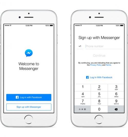 ไม่มีบัญชี Facebook ก็ใช้แอป Facebook Messenger ได้