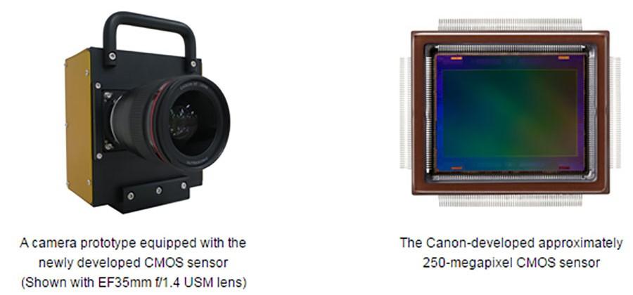 Canon พัฒนาเซนเซอร์  APS-H CMOS ความละเอียด 250 ล้าน