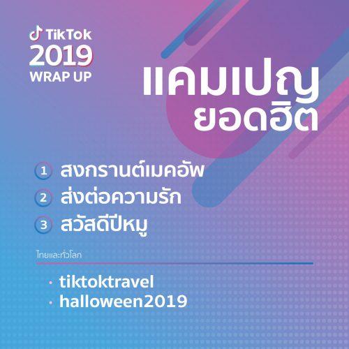 TikTok สรุปเทรนด์สุดฮอตประจำปี 2019